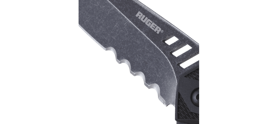 FOLLOW-THROUGH™ COMPACT MODIFIED TANTO WITH VEFF FLAT TOP SERRATIONS®