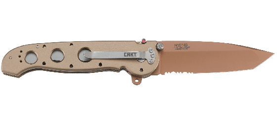 M16® - 14D DESERT TANTO COPPER WITH TRIPLE POINT™ SERRATIONS
