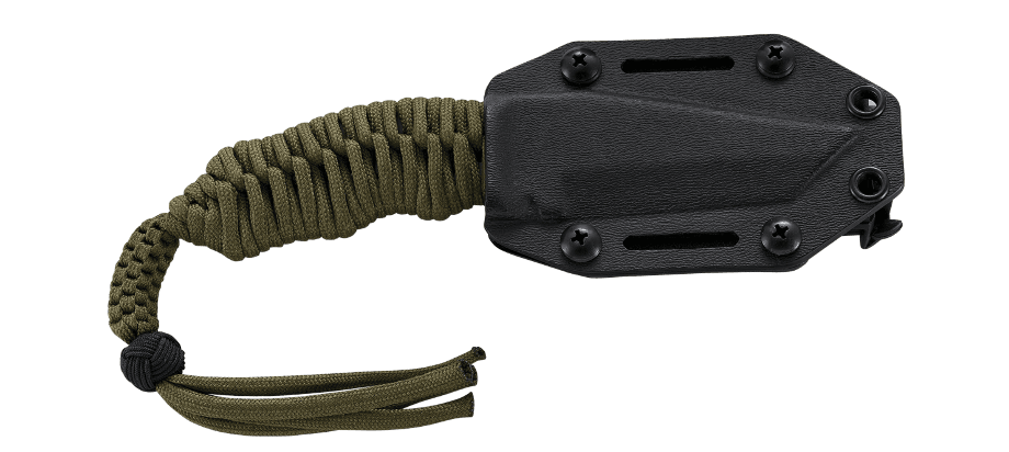TRIUMPH N.E.C.K.™ (No. NONSENSE. EMERGENCY. COMPACT. KNIFE.) BLACK WITH PARACORD WRAP