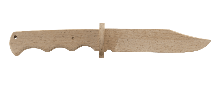 WOODEN FIXED BLADE KNIFE KIT