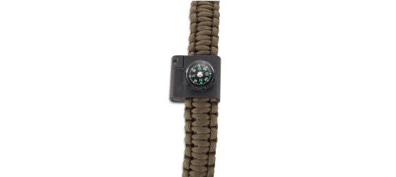 STOKES PARACORD BRACELET ACCESSORY - COMPASS AND LED
